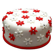 Star Filled Christmas Fondant Cake: Send Christmas Gifts to Family