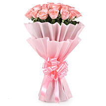 Stylish Pink Roses Bouquet: Gifts for Rose Day