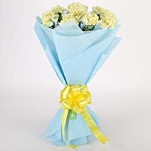 Sundripped Yellow Carnations Bouquet: Congratulations Flowers for New Mom