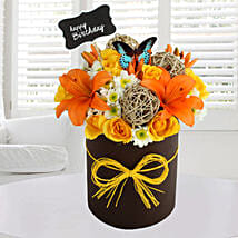 Sunny Floral Arrangement: Birthday Gifts for Friend