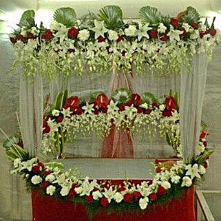 Superb Floral Ganapati Decoration: Devotional Decoration Services