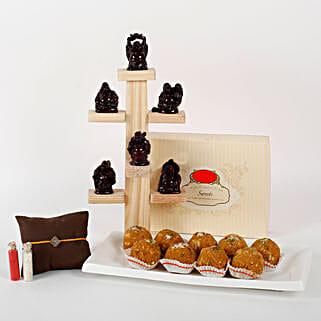 Sweet Buddha Rakhi Combo: Ethnic Rakhi