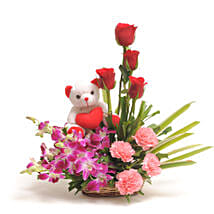 Sweet Inspiration: Flowers & Teddy Bears - Friendship Day