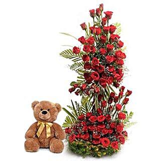 Sweet Surprise: Valentine Flowers & Teddy Bears