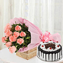 Sweet Treat with Flowers: Gifts for Daughters Day