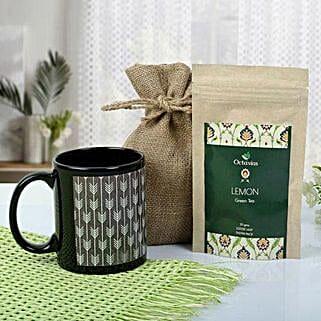 Tea With Mug Hamper: Chocolate Bouquet for Birthday