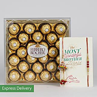 Tempting Choco Rakhi: Designer Rakhi