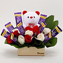 The Perfect Surprise Combo: Flowers & Teddy Bears for Birthday