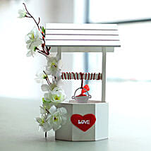 The Wishing Well full of Love Notes: Artificial Flowers
