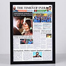 TOI Front Page Personalised Frame-Anniversary: Send Personalised Photo Frames for Wife