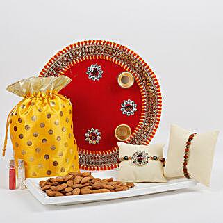 Traditional Rakhi Thali Combo: Rakhi Pooja Thali Kochi