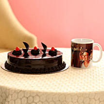 Truffle Cake & Personalised Mug For Mom: Personalised gifts for Mother's Day