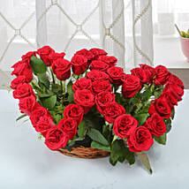 Twin Heart Arrangement: Anniversary Flowers