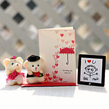 Valentines Table Top & Teddy Bears Combo: Soft Toys Gifts