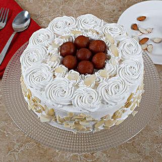 Vanilla Fusion Gulab Jamun Cake: Diwali Sweets