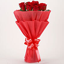 Vivid - Red Roses Bouquet: Send Valentine Flowers to Udupi