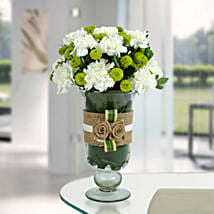 White Carnations Arrangement: Fresh Flower Arrangement
