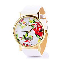 White Floral Watch For Women: Watches for Her