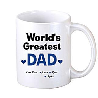 White Personalised Coffee Mug: Custom Photo Coffee Mugs