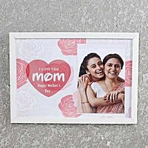 White Personalized Photo Frame for Mom: Mothers Day Personalised Frames