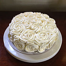 White Rose Cake: Eggless Cakes for Anniversary