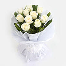 White Roses Bunch: Gifts for Cancerians