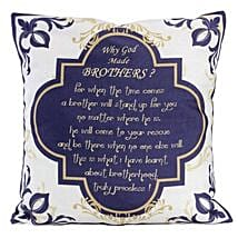 Why God Made Brothers Cushion: Send Birthday Cushions