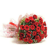 Beautiful 30 Red Roses Bouquet: Flower Delivery in Tikamgarh