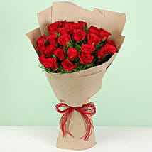 Beautiful 30 Red Roses Bouquet: Flower Delivery in Jhabua