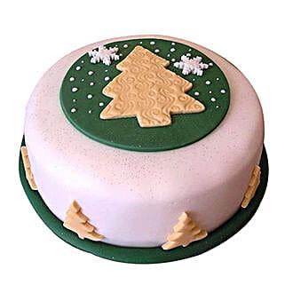 Xmas Tree Fondant Cake: