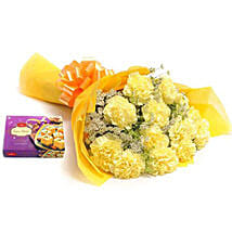 Yellow Carnations: New Year Send Flowers & Sweets