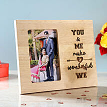 You & Me Engraved Wooden Photo Frame:
