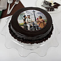 Yummy Chocolate Photo Cake For Dad: Photo Cakes to Thane