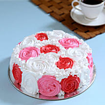 Yummy Colourful Rose Cake: Valentines Day Designer Cakes