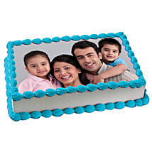 Yummy Vanilla Photo Cake: Gifts for Parents