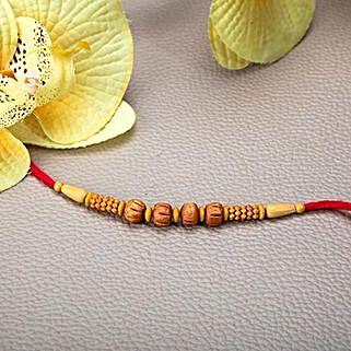 Wooden Beads Rakhi: Rakhi Gifts to Macau