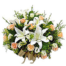 Basket Of Mixed Flowers: Condolence Flowers Delivery in Malaysia