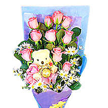 Beauty N Cuteness Bouquet: Mothers Day Flowers to Malaysia