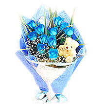 Blue Heavenly Surprise: Send Flowers to Malaysia