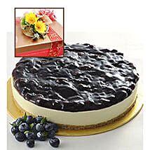 Blueberry Cheesecake With Flowers: Send Cakes to Malaysia