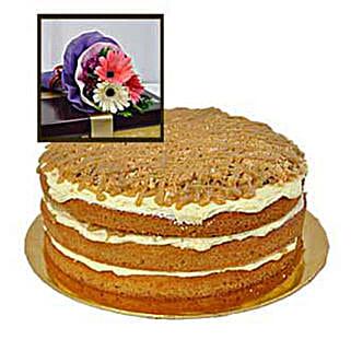Caramel Butterscotch Cake: Send Anniversary Cakes to Malaysia