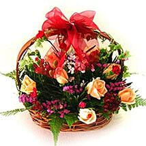 Exceptional Floral Beauty Basket: Mothers Day Flowers to Malaysia