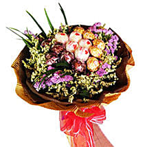 Lip Smacking Bouquet Of Rocher: Send Chocolates to Malaysia