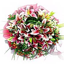 Lovely Lilies Smile Bouquet: Lilies to Malaysia