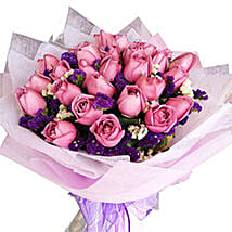 Purple Magic Bouquet: Mothers Day Flowers to Malaysia
