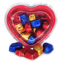 Assorted Chocolates Heart Gift Box 160g: Valentine's Day Gifts to Nepal