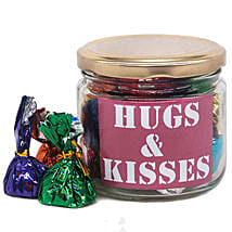 Hugs And Kisses Message Candy Jar: Send Valentine Gifts to Nepal