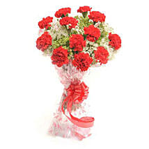 Romantic In Red: Valentines Flowers to Nepal