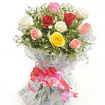 Summer Pop Roses: Valentines Day Flowers to Nepal