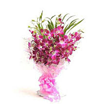 The Purple Orchids Delight: Send Flowers to Nepal
